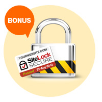Bonus: SiteLock - Protect your website!