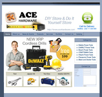 Website Theme for Hardware Shop